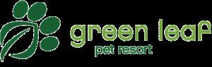 Green leaf pet resort logo