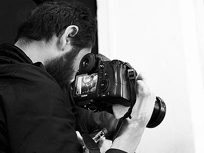 Image of man holding camera